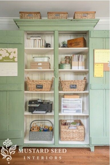 Miss Mustard Seed Steal Worthy Office Organization