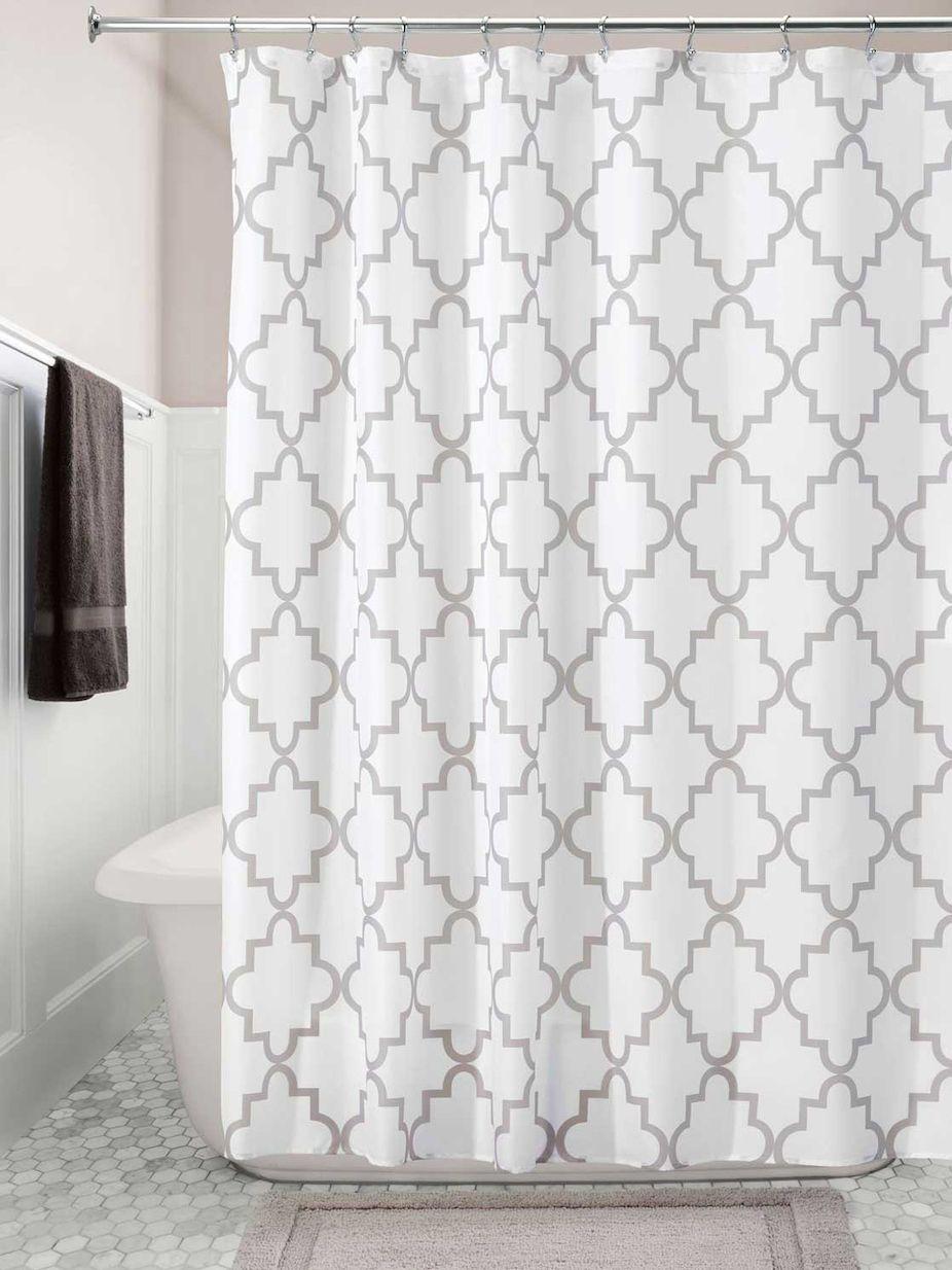 Interdesign Moroccan Trellis Shower Curtain Gray Shower Curtain