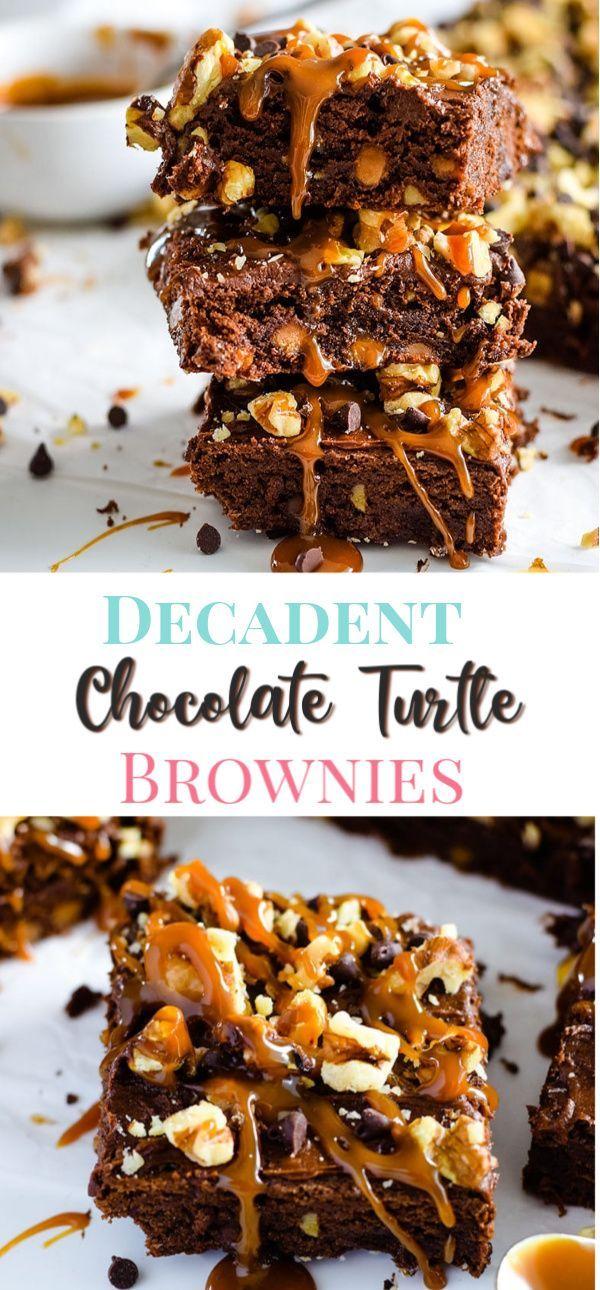 Chocolate Turtle Brownies
