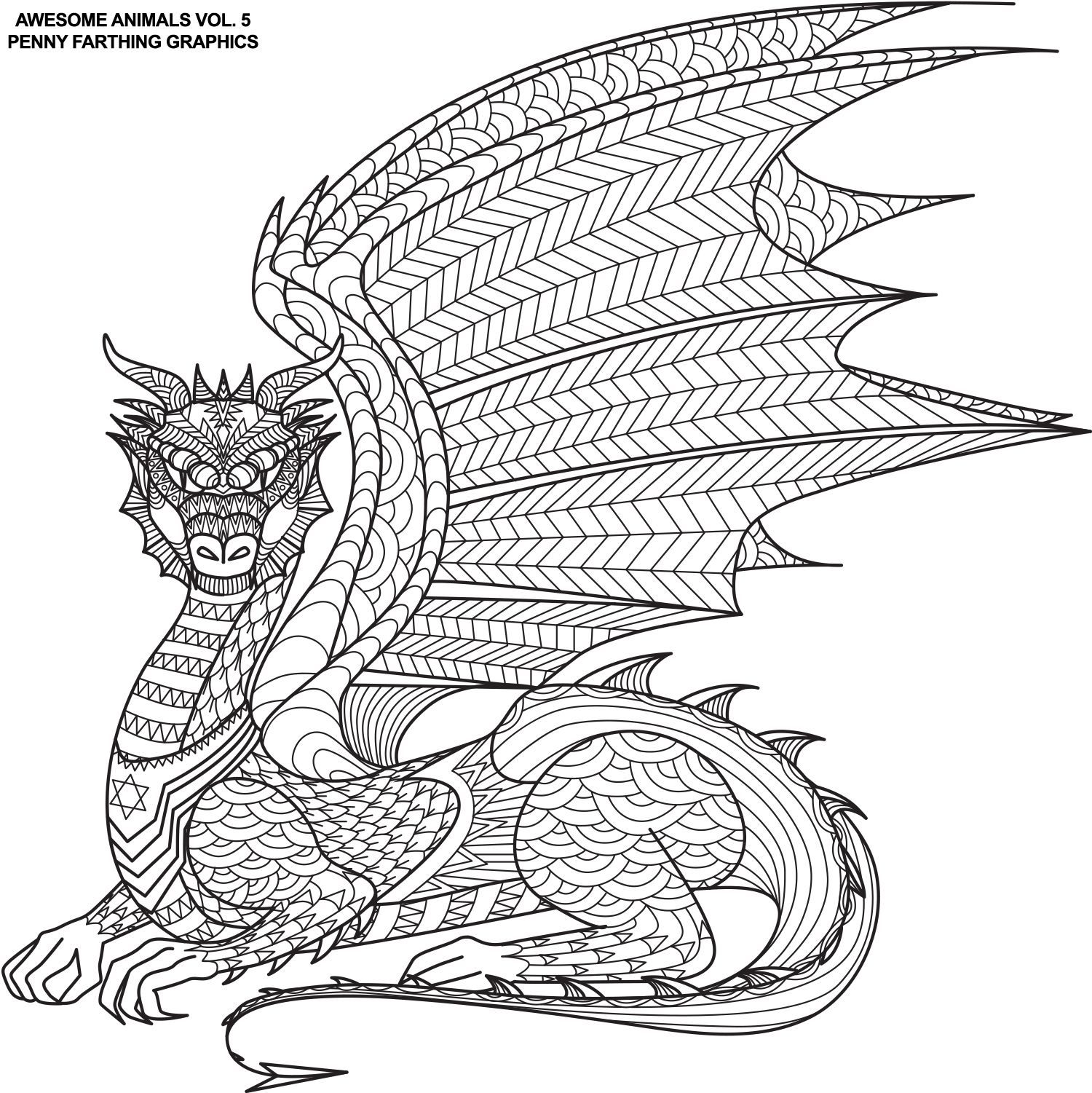Ausmalbilder Für Erwachsene Drachen : The Dragon From Awesome Animals 5 Coloring Pinterest