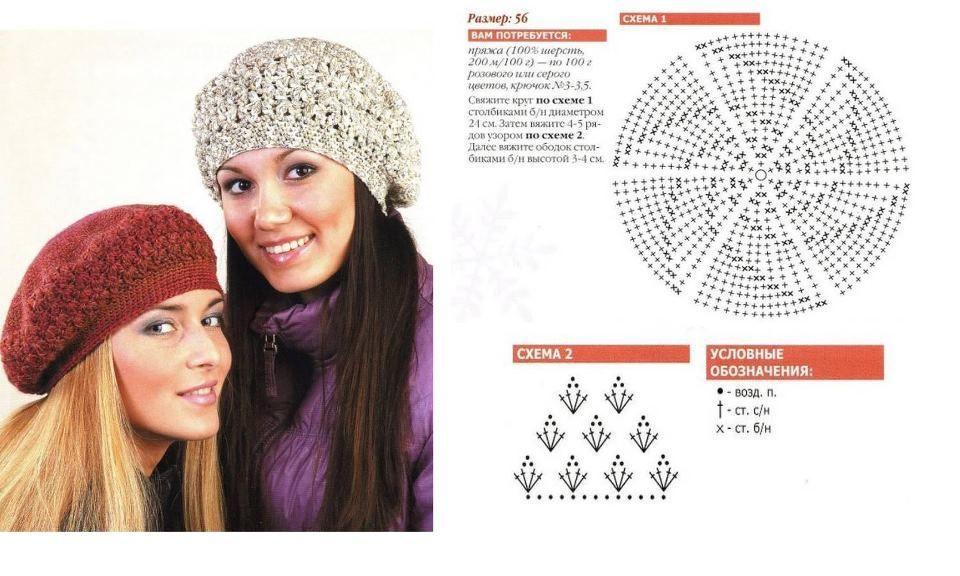 Increíble Crochet Patrón De La Boina Libre Fotos - Manta de Tejer ...