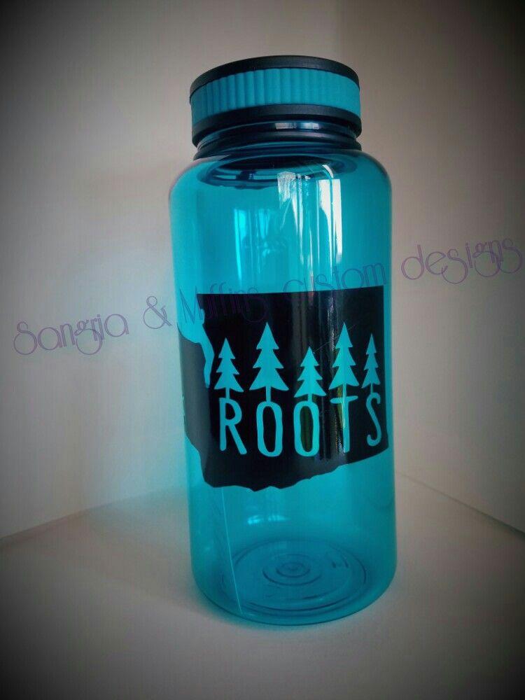 Washington state roots water bottle decal    Cricut - FUN