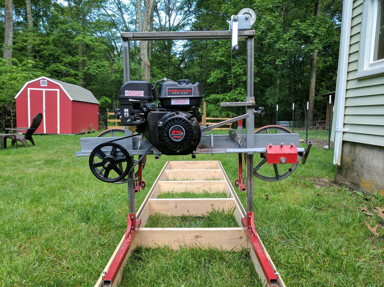 How i built a sawmill in the backyard backyard for Dennis mill cabin