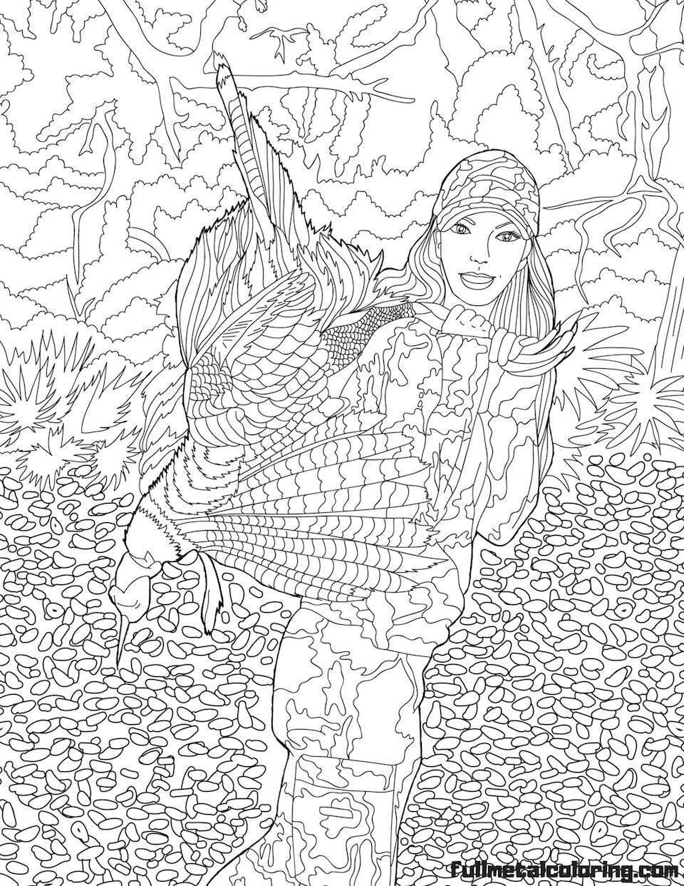 Free Free Kids Hunting Coloring Page, Download Free Clip Art, Free ... | 1242x960