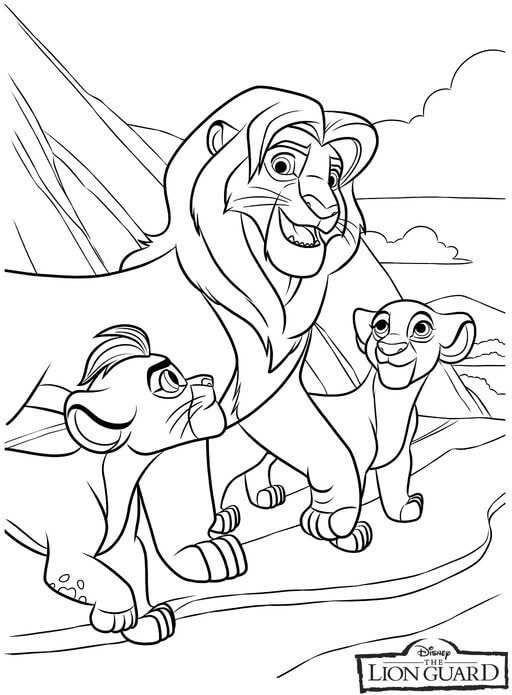 The Lion Guard Coloring Pages Collection Lion Coloring Pages Cartoon Coloring Pages Coloring Books