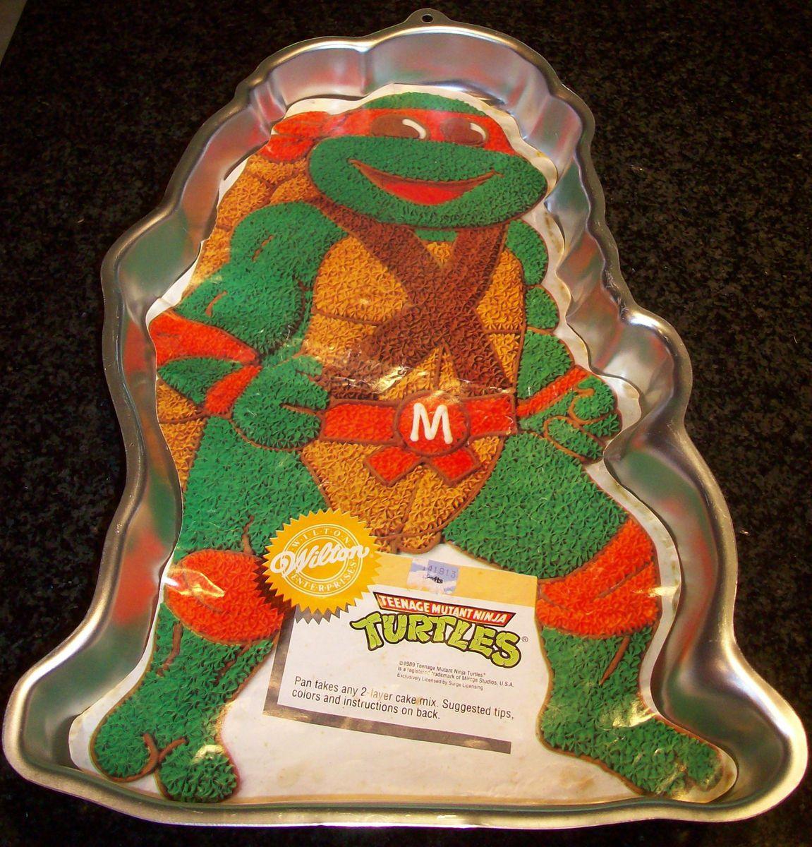 Vintage Wilton Cake Pan Jello Mold Teenage Mutant Ninja Turtle M 16 X Ninja Turtle Cake Pan Wilton Cake Pans Turtle Cake