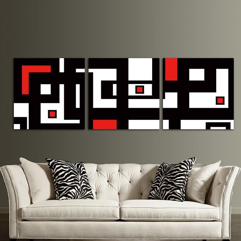 Red Black White Design Modern Abstract Wall Art Decor For Living Room Framed Unframed Ash Wall Decor White Wall Decor Black Wall Decor Abstract Wall Decor