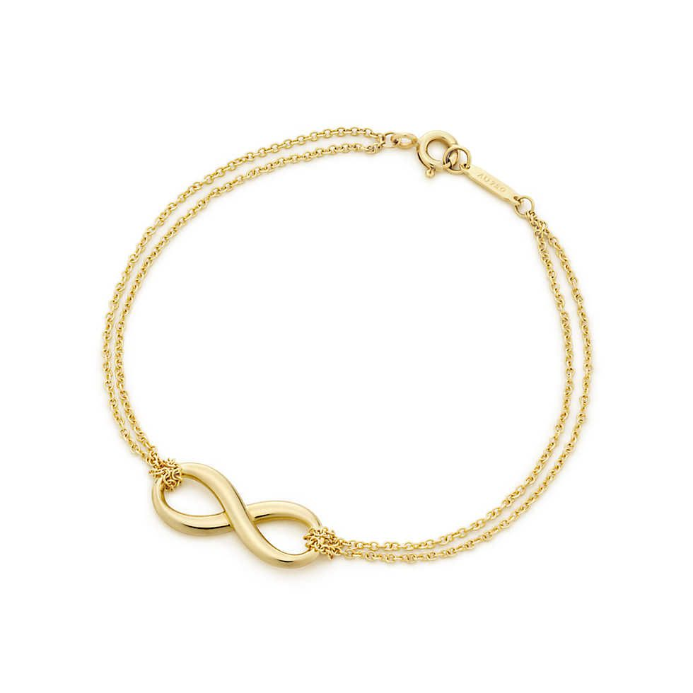 Tiffany infinity bracelet in k gold medium tiffany co