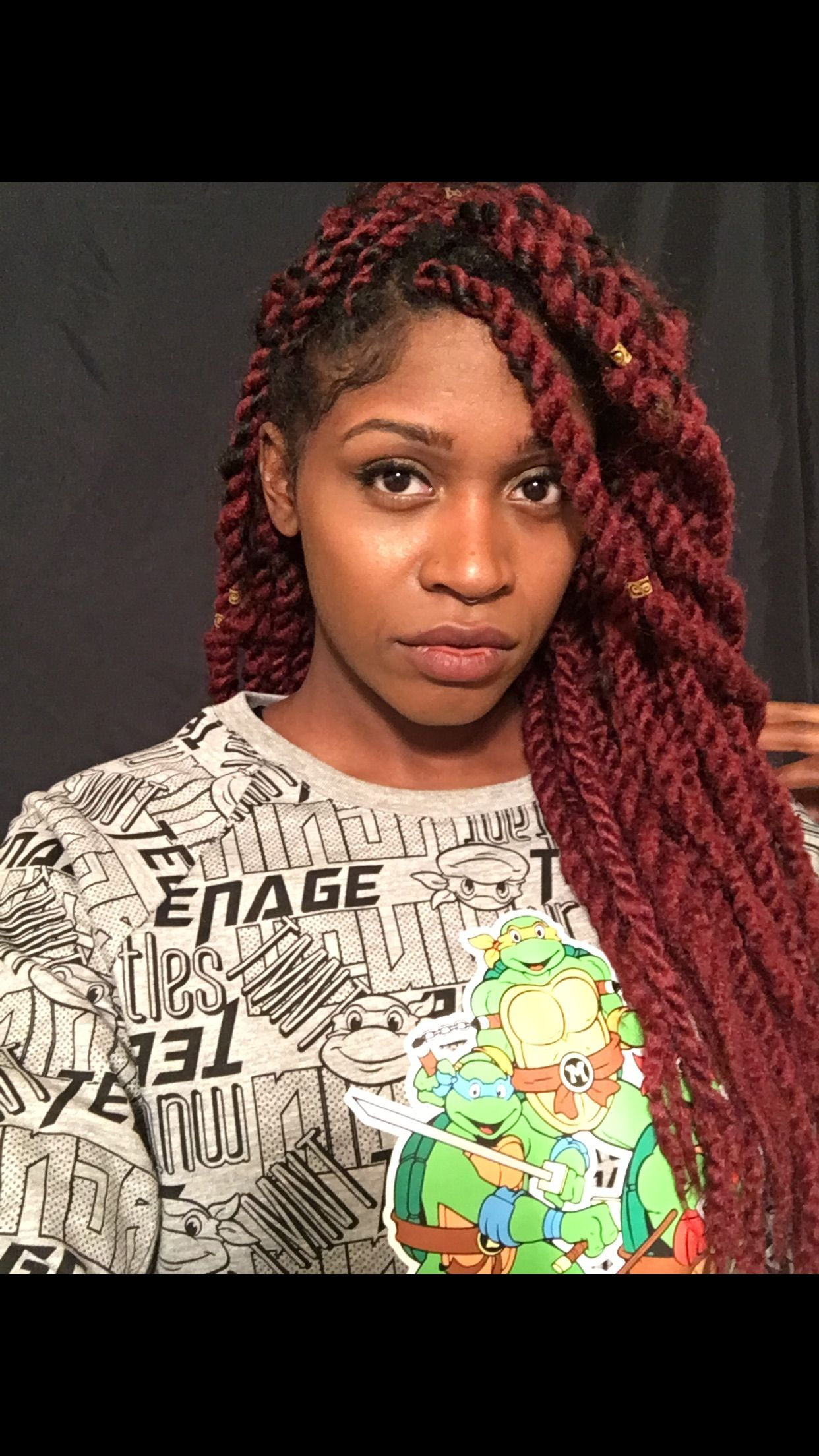 marley twists. black girl red