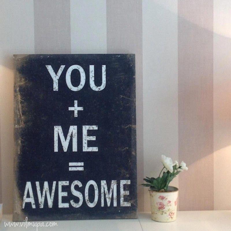 Cartel con mensaje positivo sobre lienzo - vilmupa   frases - quotes ...