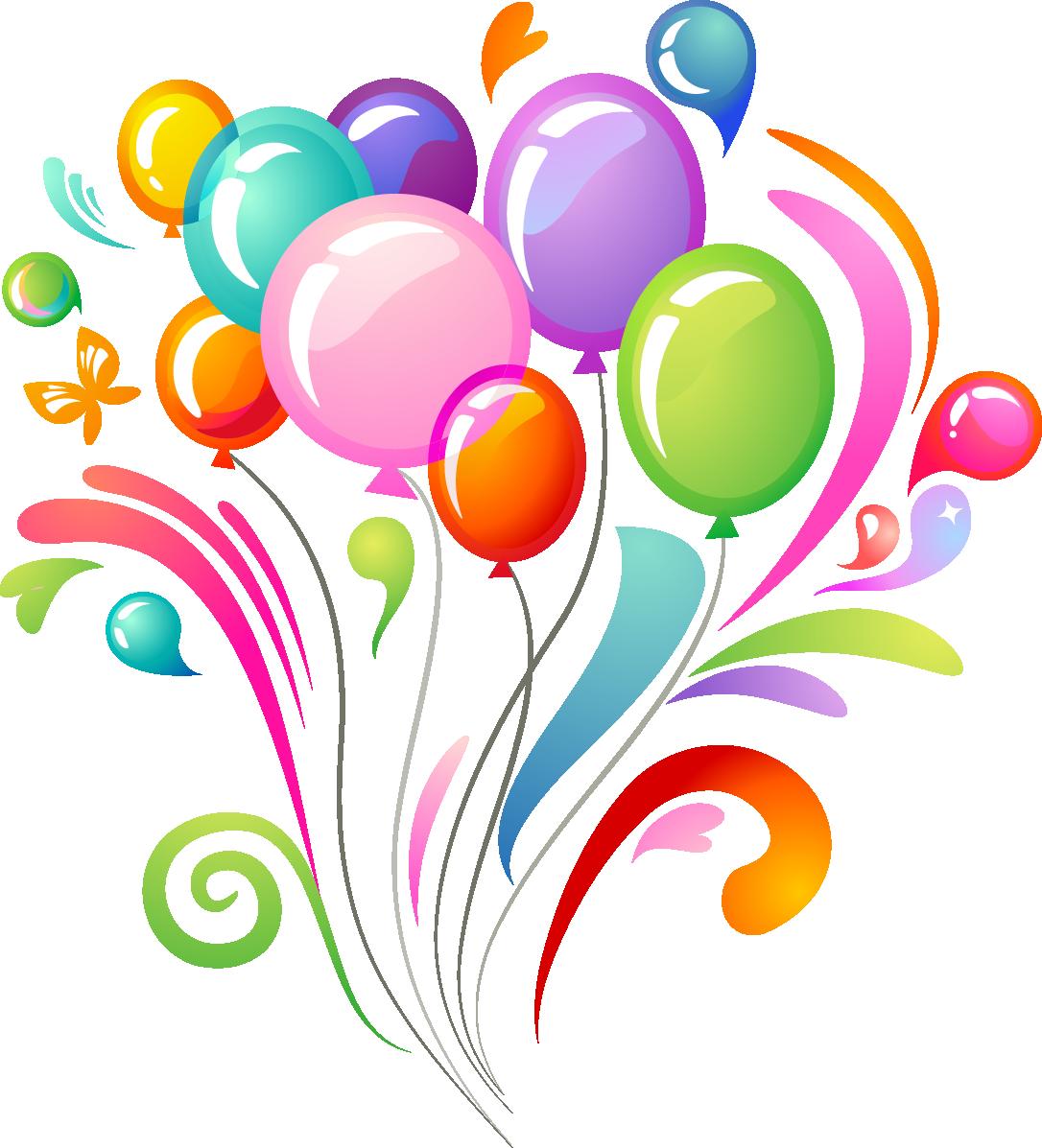 Pin By Lb Artesanias Con Diseno On Felicidades Para Balloons Birthday Clips Free Clip Art