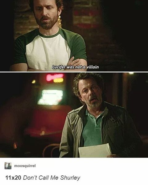 Lucifer Supernatural Season 5: 11x20 Don't Call Me Shurley Lucifer Was Not A Villiain