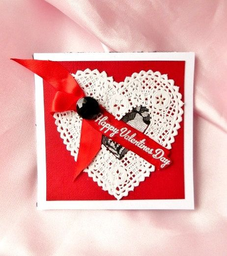 Handmade Valentine Card for her Happy by InspiredGreetingsAD, $6.00
