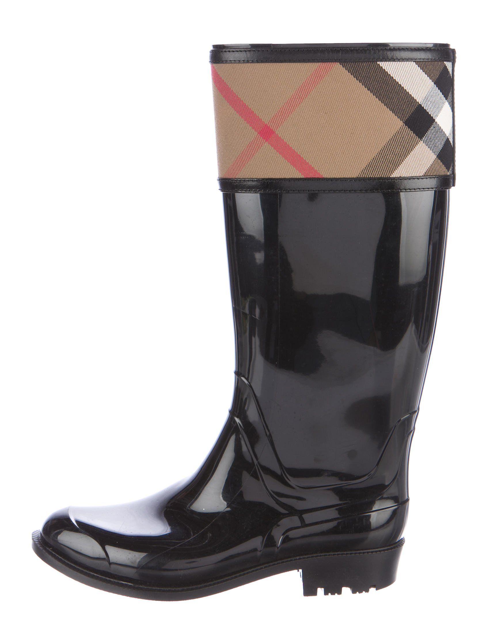 3e30cba9e9d2 Burberry Crosshill House Check Rain ... Rain Boots