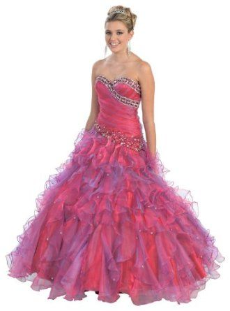 Special Sale!!! Ball Gown Strapless Beaded Formal Prom Wedding Dress #234