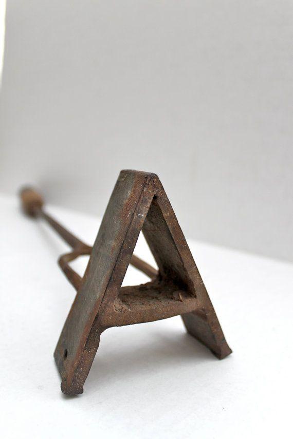 vintage rancher's branding iron // A // primitive by RedTuTuRetro