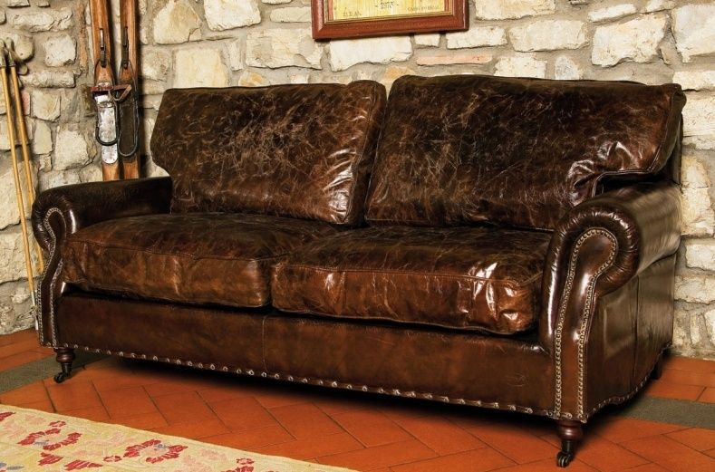 Aged Leather Sofa