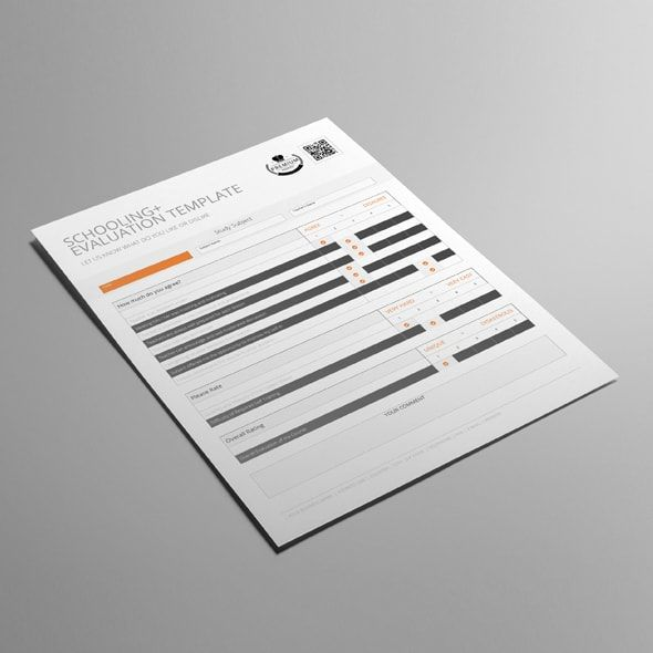 Schooling Evaluation Template CMYK \ Print Ready Clean and - product evaluation template