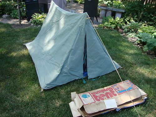 Vintage National Canvas Products Corp Lakeshore No 4 Boy Scout Pup Tent & Vintage National Canvas Products Corp Lakeshore No 4 Boy Scout Pup ...
