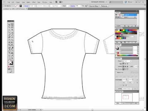 Adobe Illustrator For Fashion Flat Sketch Pen Tool Tutorial