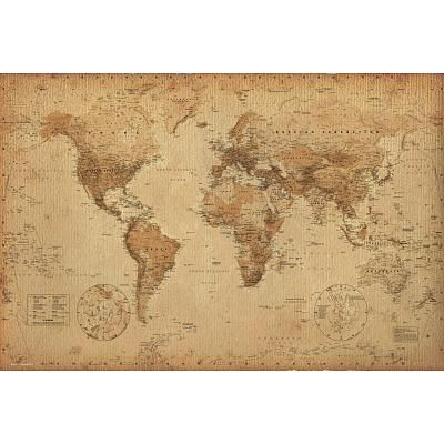 World map antique art poster of course i have to have a little world map vintage style art poster print poster print collections poster print gumiabroncs Images