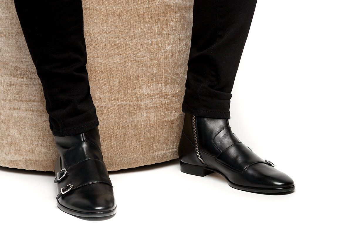 Mens Shoe Boots With Zipper