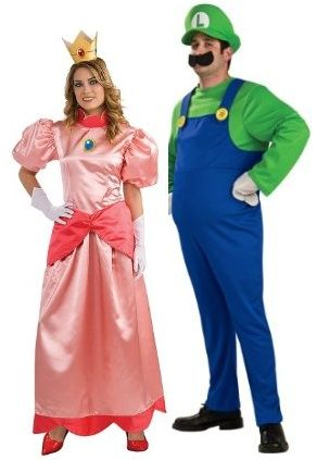 Luigi and Princess Peach - another great couple Halloween costume modest and appropriate for work.  sc 1 st  Pinterest & Luigi and Princess Peach - another great couple Halloween costume ...