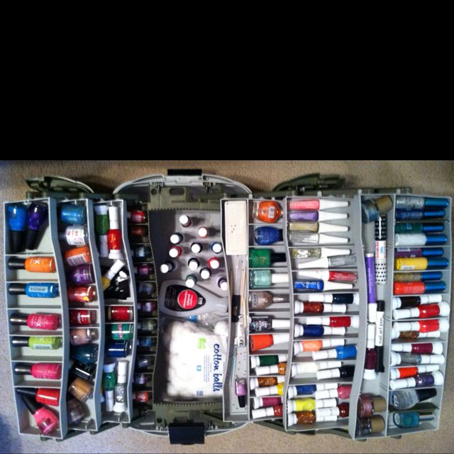 Diy Tackle Box Nail Polish Organizer Easy Way To And Transport All Your Care Items Genius