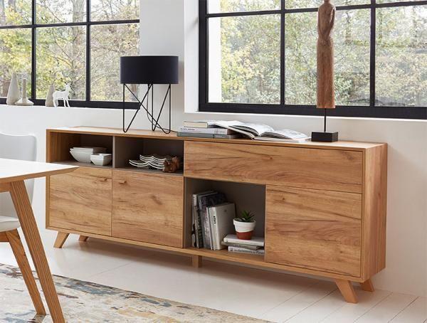 Modern 3 door sideboard in choice of oak effect, white pine effect or matt stone #germania #modernfurniture #interiordesign #homedecor #interiors #furniture #homedesign #designerfurniture #love