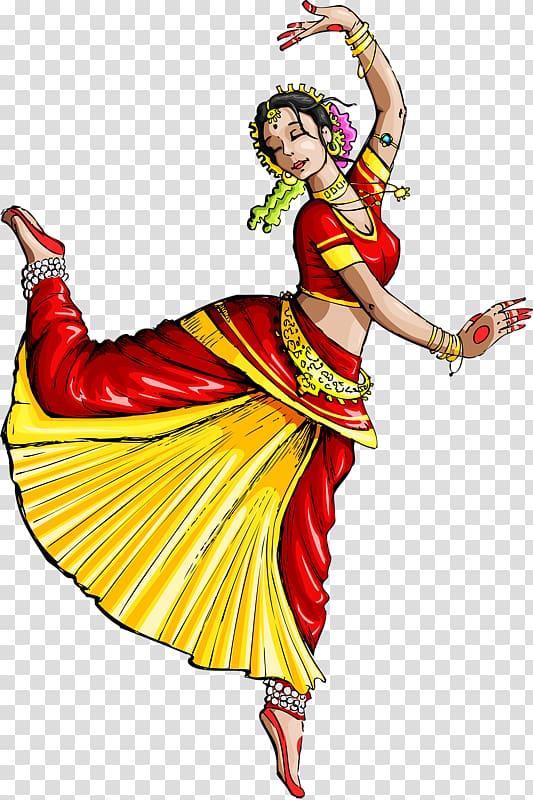 Woman Dancing Illustration Dance In India Indian Classical Dance Paintings Dancing Drawings Dance Art