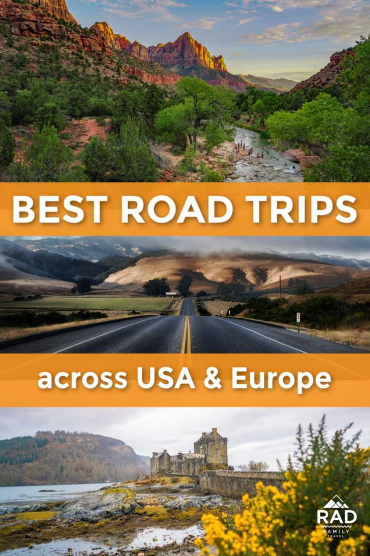 Best Road Trips in the USA & Around the World Road trip