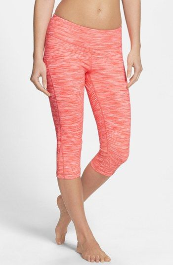 2757e78eafcbeb Zella 'Live In' Eclipse Space Dye Slim Fit Capri Leggings | Nordstrom