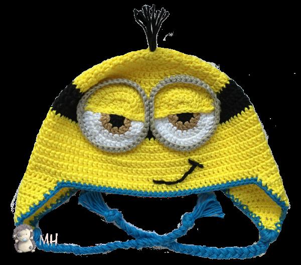 Gorro Minion a crochet, ¡con patrón de puntos! | Patrones de puntos ...