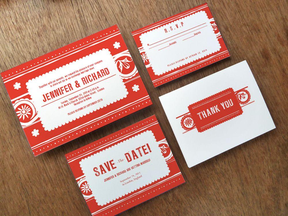 Mexican Papel Picado Inspired Printable Wedding Invitation Set - Wedding invitation templates: mexican wedding invitations templates