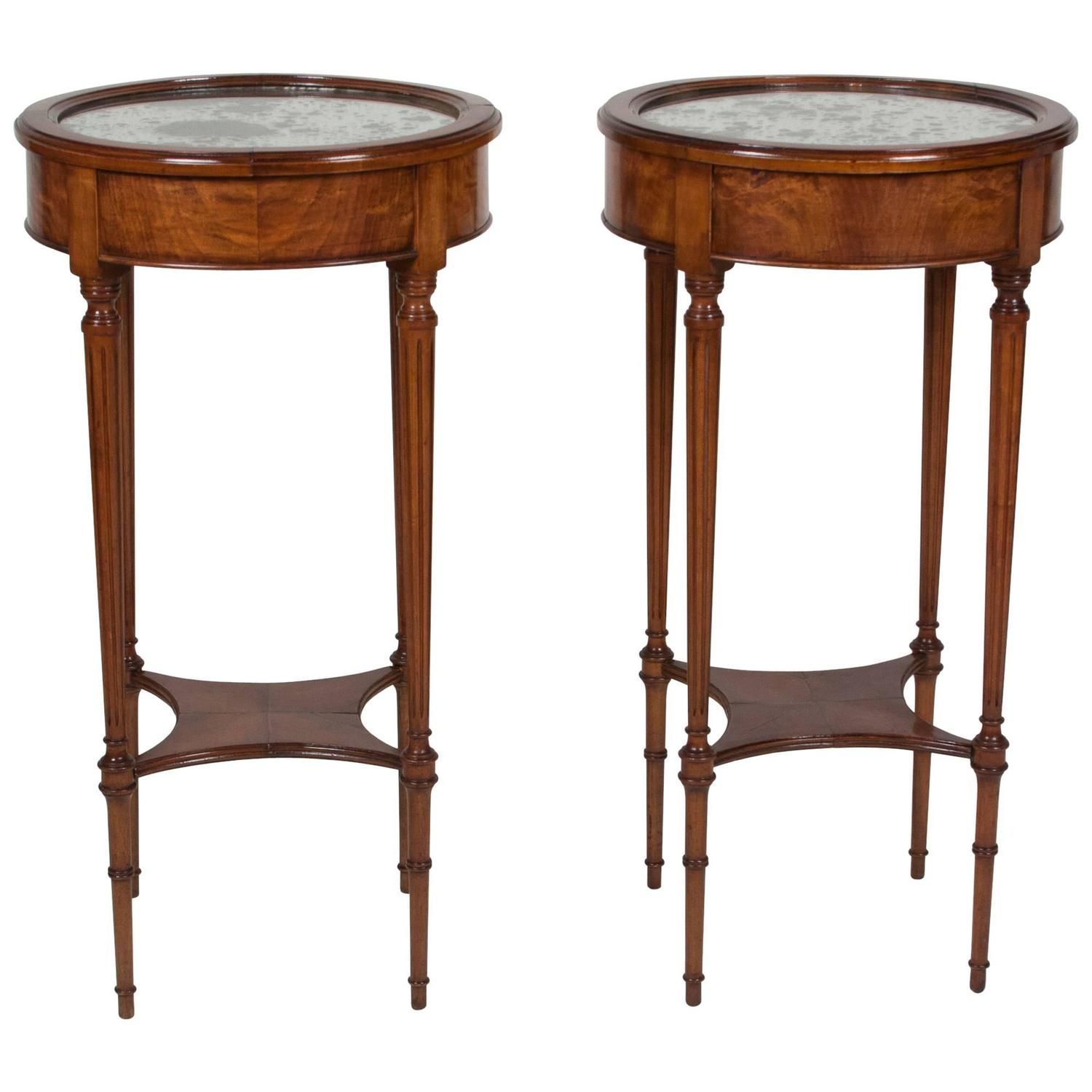 Pair Of Louis Xvi Style Cherry End Tables Cherry End Tables End
