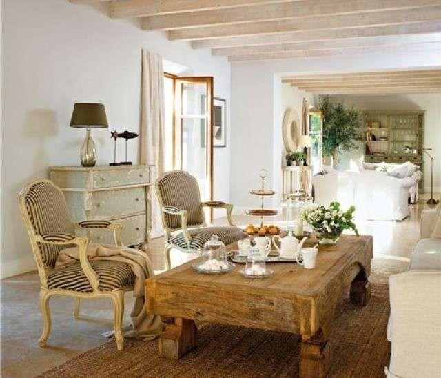 Arredamento casa al mare in stile provenzale salotto for Arredare casa in stile provenzale