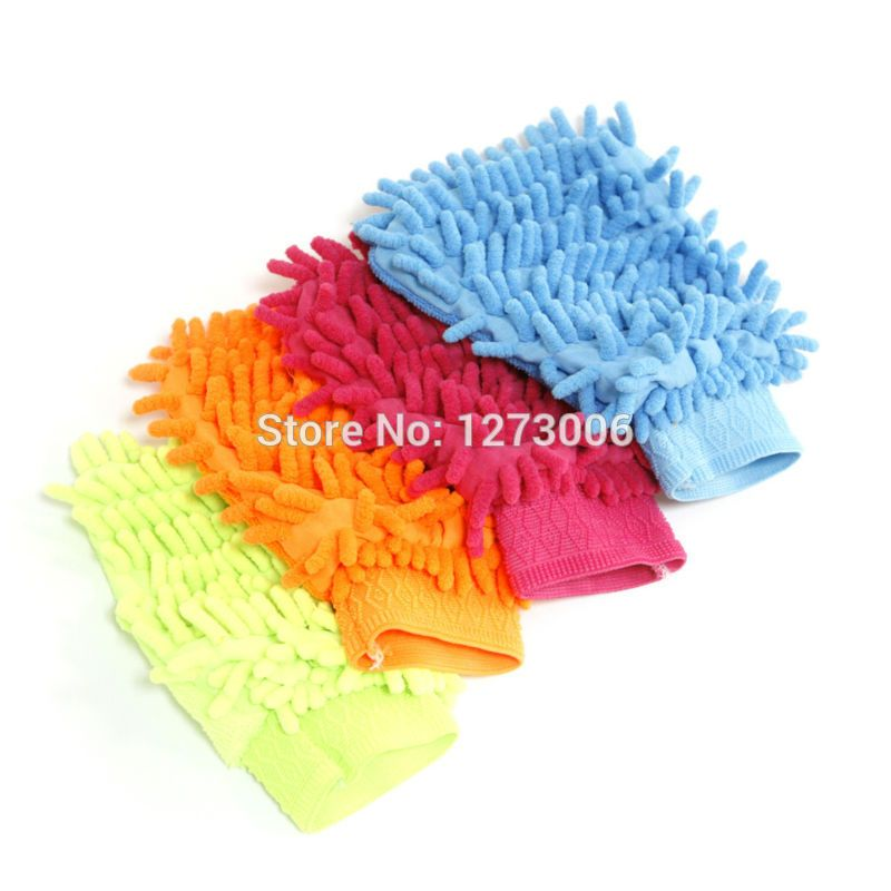 New Microfiber Car Kitchen Household Wash Washing Cleaning Glove Mit Use 1PCS