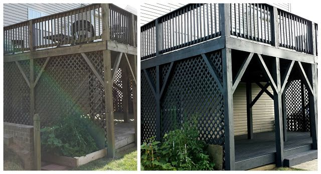Before & After Black Slate Stain Deck & Repair Deck