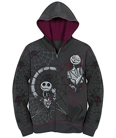 Jack Skellington Fleece Hoodies | Fleece hoodie and Jack skellington