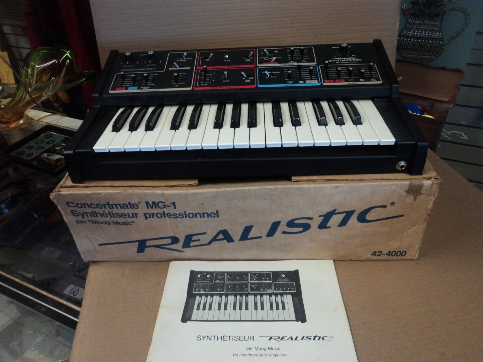 Moog Realistic Mg 1 Mg1 Real Vintageog Synthesizer W