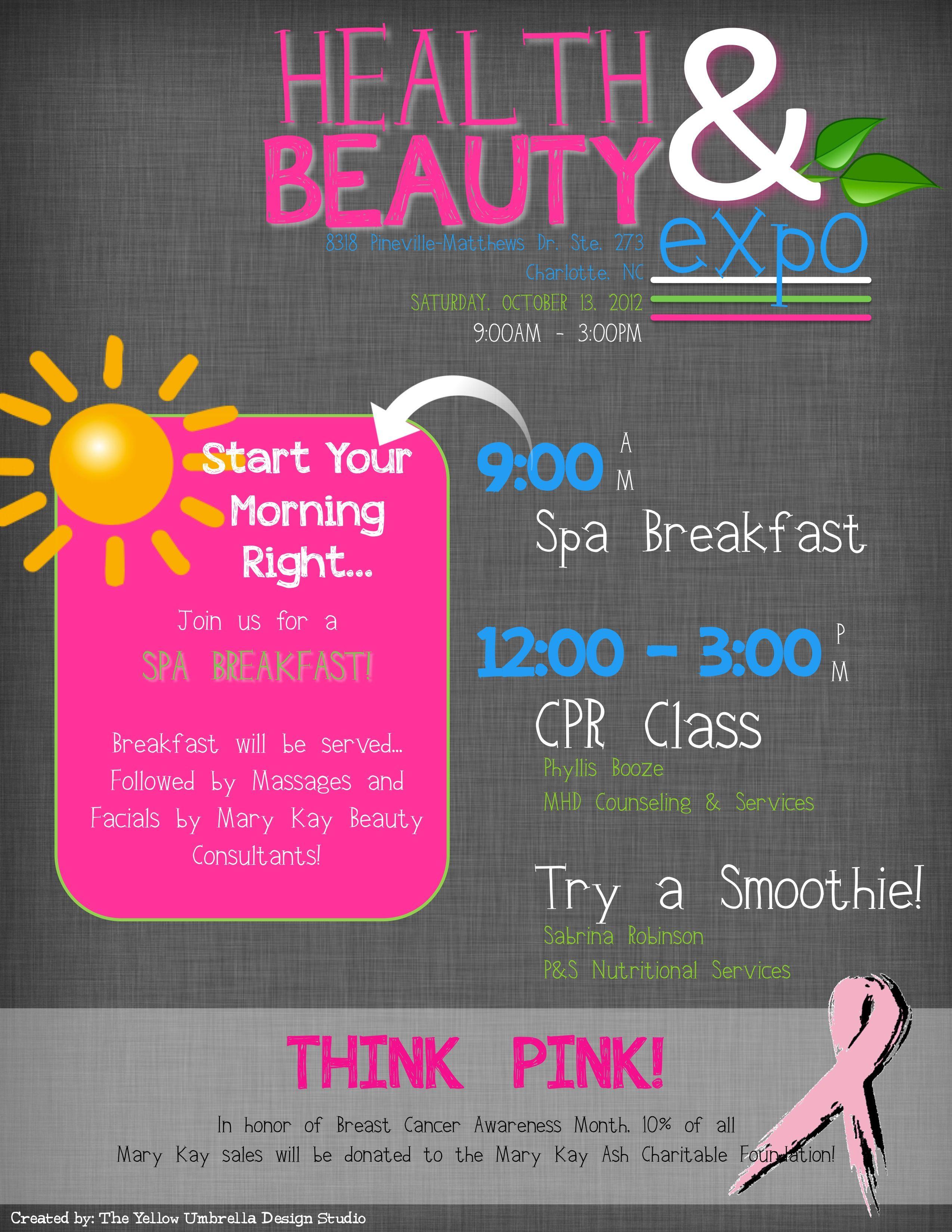 Health and beauty expo flyer mary kay marykay mary kay beauty nails 1betcityfo Images