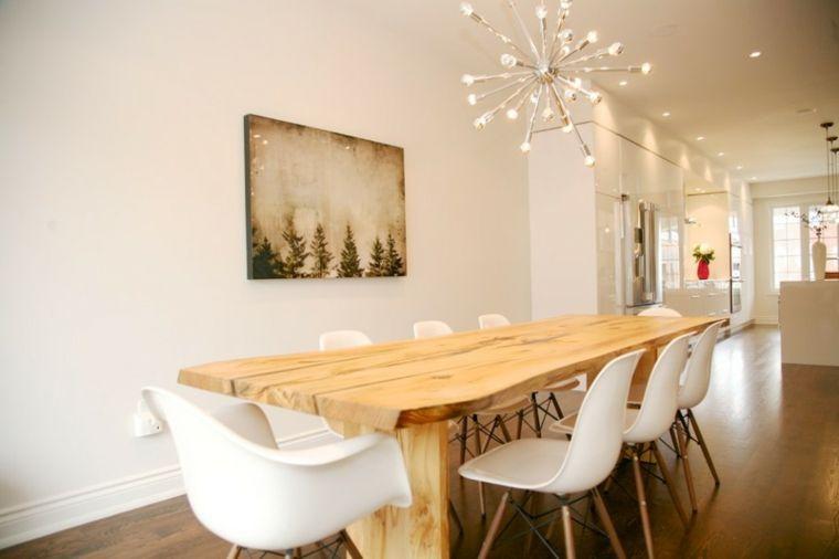 Mesas de comedor modernas de madera maciza - más de 50 ideas - | Room
