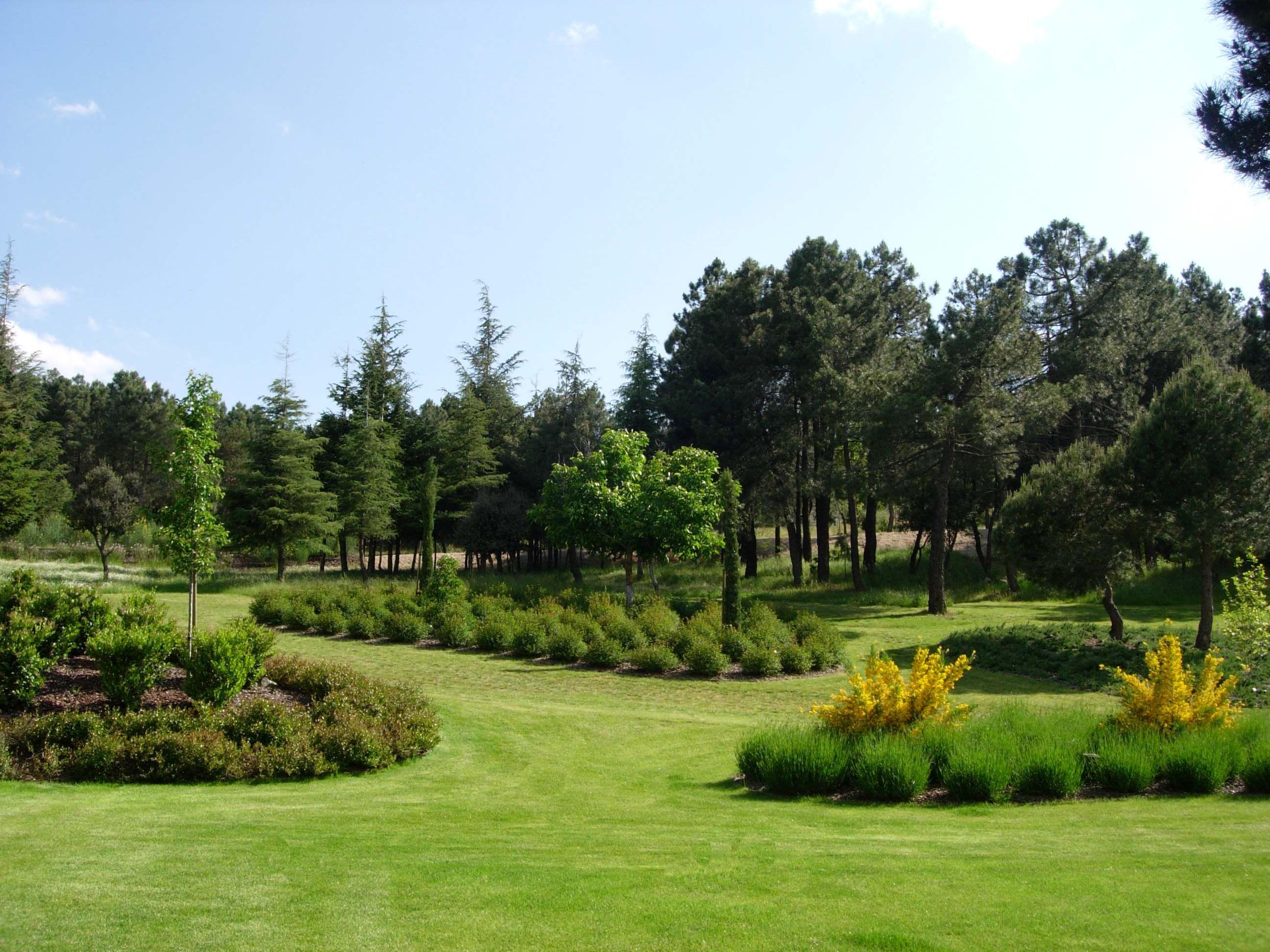 Jardín Casa De Campo En Madrid España Golf Courses Field