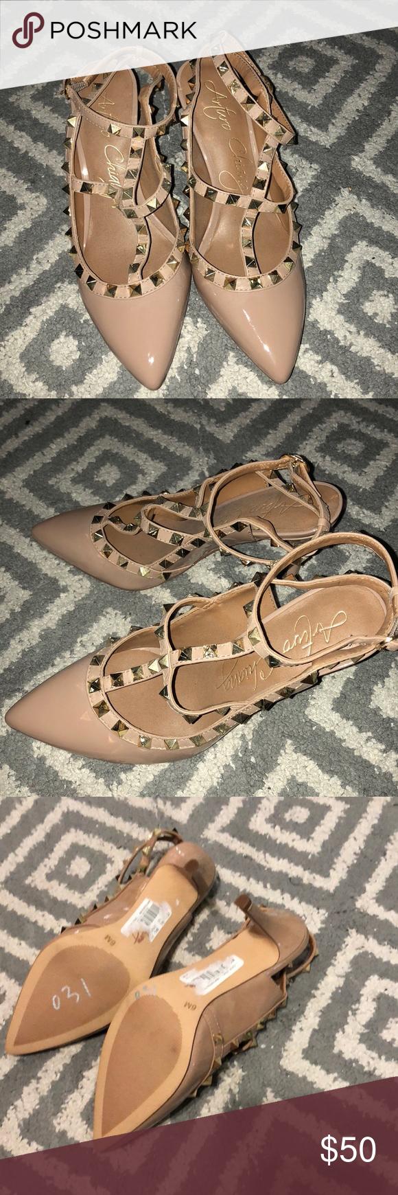 27384202ae8d Brand new Arturo Chiangmai studded heels Never worn