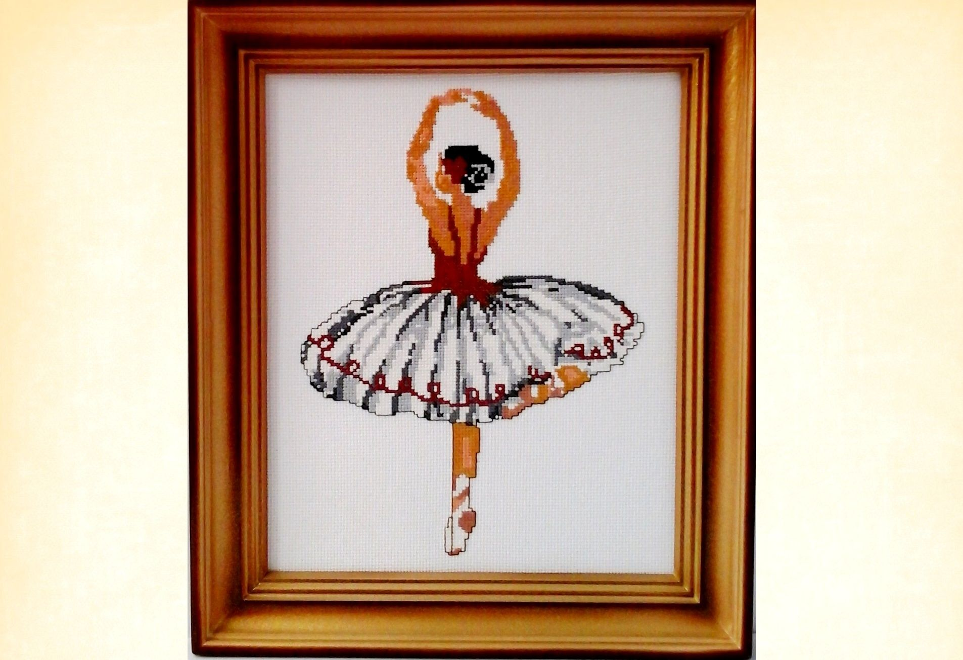 Finished framed cross stitch picture Ballerina will become a ...