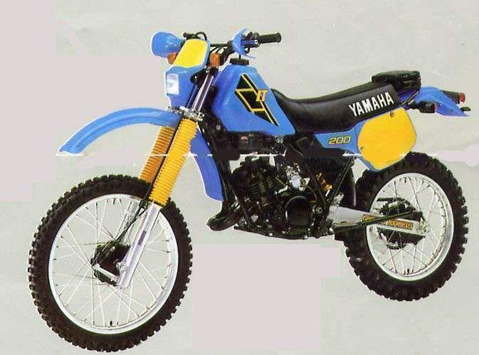 1986 Yamaha It 200 Enduro Motorcycle Yamaha Dirt Bikes Yamaha