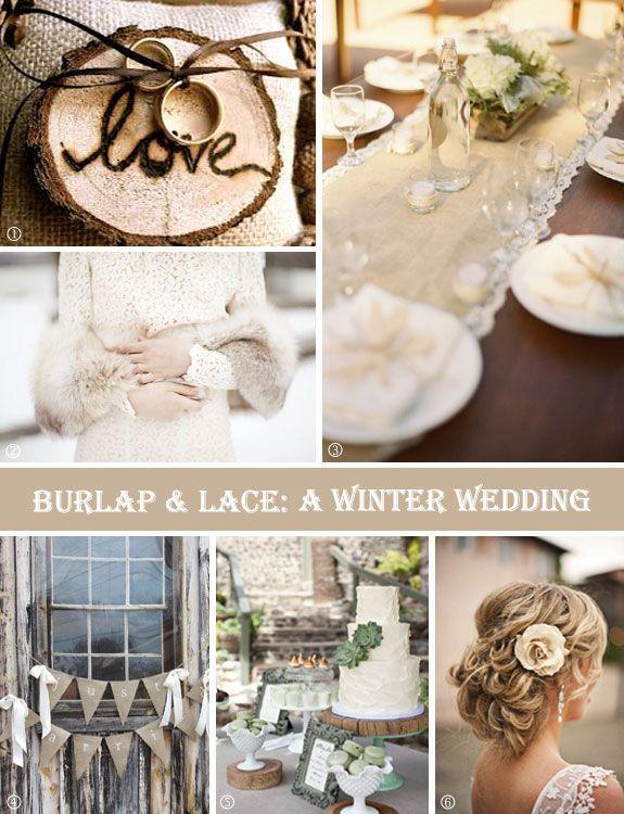 17 Best Images About Burlap Lace Wedding Decor Ideas On