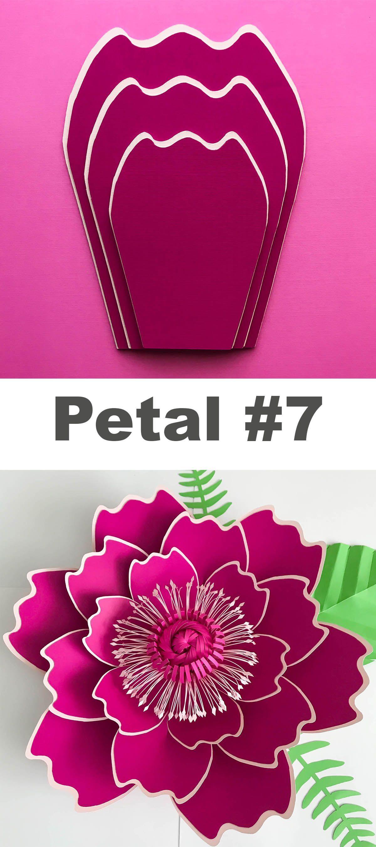 Paper flower template svg digital file and svg center #149 as on foto