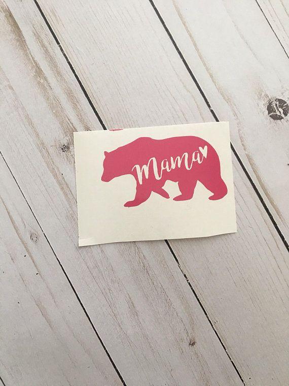 Custom Vinyl Mama Bear Decal