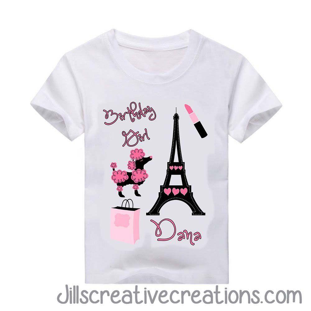 0600f964 Paris T-Shirt | KIDS TEES | Paw patrol birthday girl, Paris themed ...